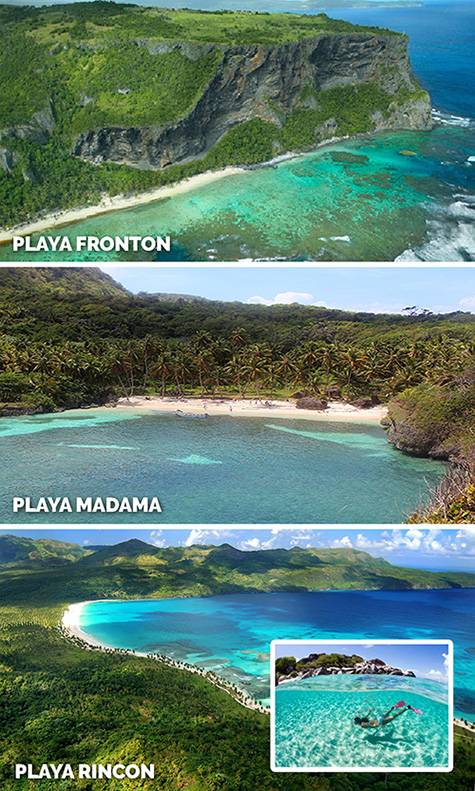 Best Snorkeling Tours in Las Galeras Dominican Republic to beaches of Playa Fronton, Madama and Playa Rincon.